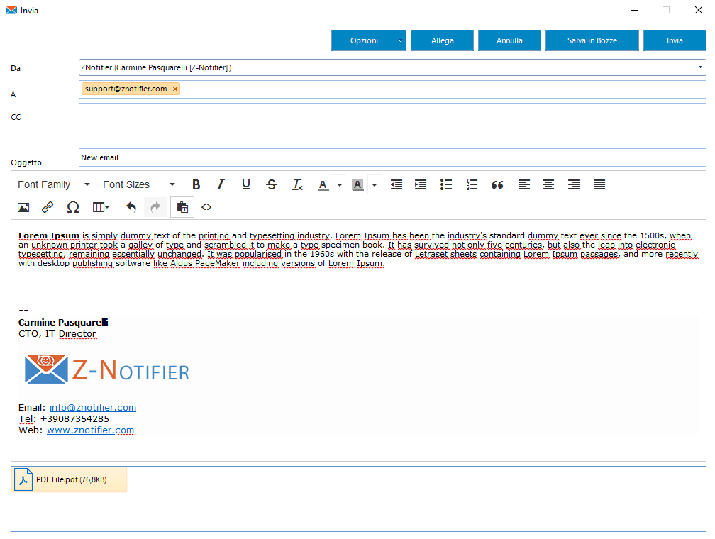 Z-Notifier: il client MAPI alternativo ad Outlook